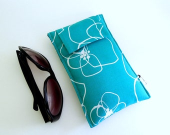 SALE Roomy Sunglasses Case in Turquoise