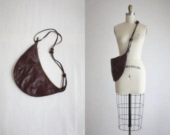 vintage oxblood sling bag