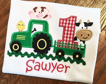 Farm Birthday,Boys Farm Birthday,Barn Shirt, Barnyard Birthday, Farm and Friends Birthday