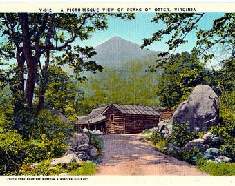 Vintage Virginia Postcard - Peaks of Otter (Unused)