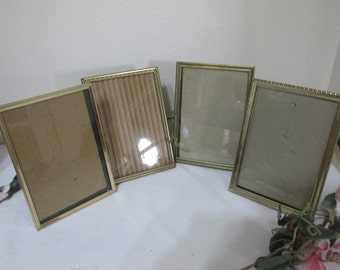 Metal Picture Frames Set of 4 with Backing and Glass 5 x 7