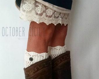 Knit Button Boot Cuff | 5 Colors | crochet, sock, leg warmer, boot, yarn
