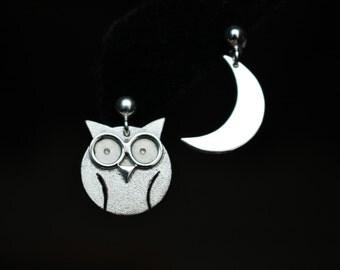 Owl Moon earrings in sterling silver