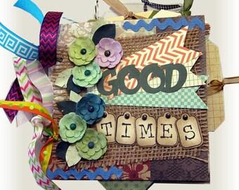 Mini Scrapbook,Good Times, Memory Album, Family Book, Friends Scrapbook, Picture Book, Family Album, Anniversary Gift, Wedding