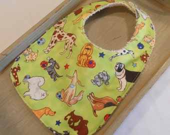 "BABY BIB in ""Playful Puppies"""