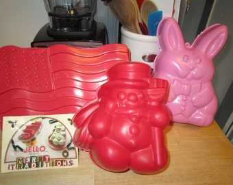 Promotional Jello Holiday Molds Flag/Bunny/Snowman