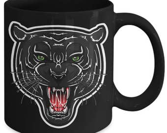 Black Panther Leopard Jaguar Animal Coffee Mug