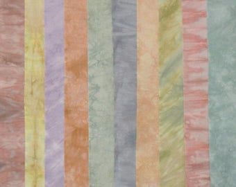 Hand Dyed Fabric FADED GLORY Stash Pack - 10 Fat Eighths