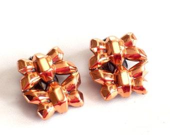 Renoir FIREFLY Copper Earrings, Rare Vintage Renoir Copper Clip Earrings, Renoir Jewellery, Renoir Earrings, Copper Firefly, Vintage Copper