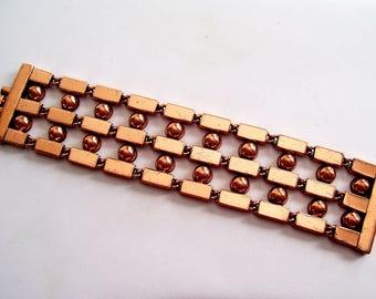 Modernist Renoir Bracelet, Chunky Vintage RENOIR Copper Bar Link Bracelet, Mid Century Modern Jewelry, MCM Copper Bracelet, Renoir Jewelry