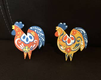 Swedish Rooster pin or magnet