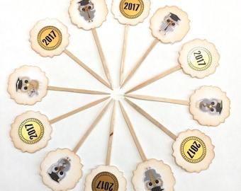 Congrats! - Cupcake Toppers