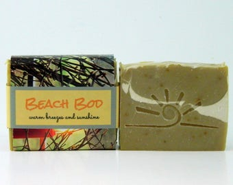 BEACH BOD handmade soaps, homemade soap, cold process soap