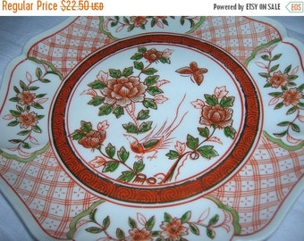 SALE- 4 Lovely Asian Style Handpainted Plates suitable to use or to hang