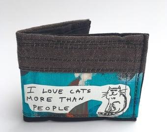Bifold wallet, recycled wallet, men's wallet, handmade wallets, vegan wallets