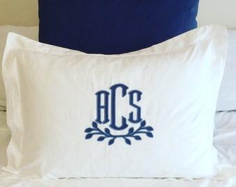 Monogrammed Applique Pillow Sham