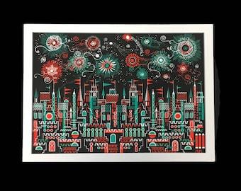 Fireworks A3 Giclee Print