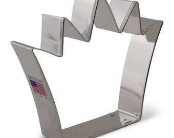 """Crown Cookie Cutter 4.25"""" King's crown cookie cutter, made in USA"""
