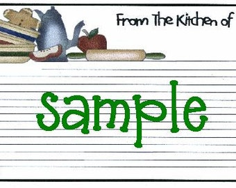 Prim Kitchen Recipe Cards ~ R33