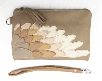 womens leather wallet PARROT WING   wallet, wallet money purse gadget cyber money wallet, feather boho wallet purse,gift for mothers
