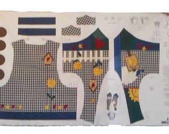 Womens Bird House Vest Fabric Panel Size S-XL