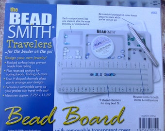 free UK postage - Traveler's Bead Board with Transparent Lid by Beadsmith