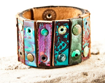 Rustic Bracelet Primitive Jewelry Cuff