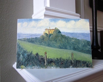 Original Landscape Painting on Canvas Board 20cm x 30cm