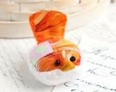 Orange Bird Pincushion Floral Pin Keep Small Pin Cushion Handmade Pincushion