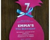 10 Troll inspired  Birthday Invitations Invite by Palm Beach Polkadots