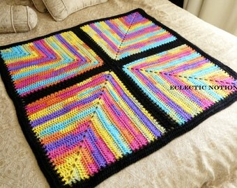 Black Rainbow Baby Blanket