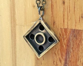 Apocalyptic-Brick necklace-2*2 -For Geek-Gift for him-for her-Rugged-Rustic-grange-Burning Man-Cool-Gift-MJ