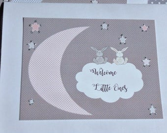 Welcome Twins Card - Twins Baby Shower Card - Twins Baby Card - Cards for Twins - Twin Baby Girls - Twin Baby Boys - tc3