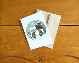 Mittens Cat card