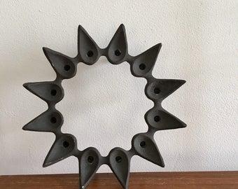 Dansk Designs Denmark Jens Quistgaard Iron Candle Holder Candelabrum Candelabra Stick Starcluster