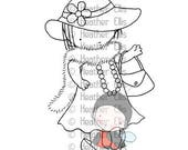 PI 087 - Dress up, digital stamp, digi stamp,
