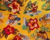 Vintage Hawaiian Fabric~Aloha Fabric~Hawaiian Floral Beach Fabric