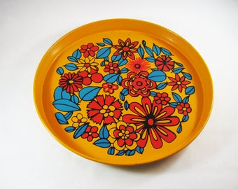 Mod Floral Metal tray