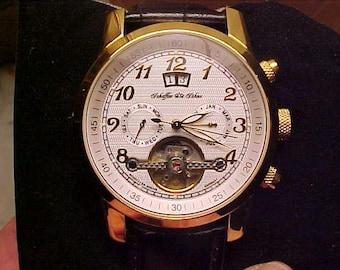 Older Scheffler Sohne Automatic Germany Wristwatch-Like New-w/Box-Runs