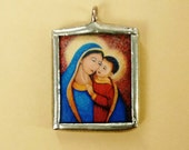 Our Lady of Good Counsel - Inspirational - Pendant - Catholic Medal - Soldered