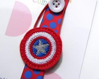 SuperHero Elastic Ribbon Bookmark - Day Planner - Kids Bookmark - Bookmark Day Planner - FiloFax - superhero Bookmark
