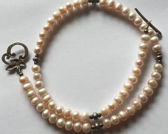 Clearance Sterling Silver 925 Pearl Necklace / Mothers Day / Bridal