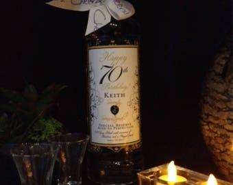 50th Birthday Wine Bottle Labels - Front & Back Set -  Customizable to your Landmark Birthday - Birthday Gift - Set of 2