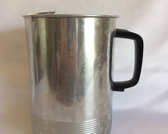 Vintage Aluminum Pitcher with Ice Guard