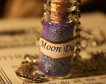 ON SALE Moon Dust - Glass Vial Necklace - Moon Necklace
