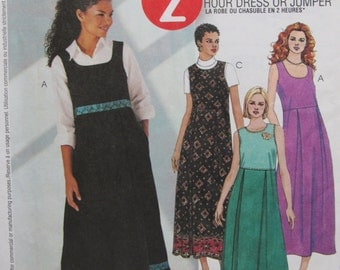 McCalls 3291/Misses Dress or Jumper/Size 8-14/Uncut Sewing Pattern/2001