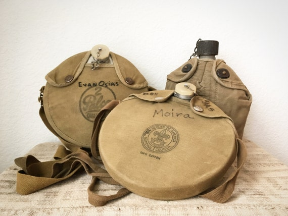 Vintage Canteens, Choice of 3, Army Canteen, Boy Scout Canteen, Palco 2 Quart-er Canteen