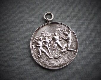 Antique Soccer Medal / Antique Football Sports Medal