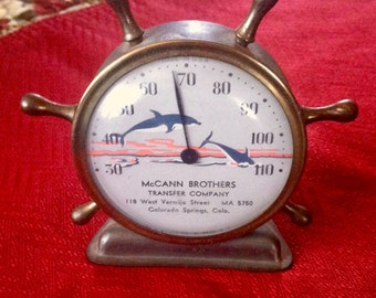 Vintage Colorado Springs McCann Brothers Transit Company Advertising Barometer, Vintage Barometers, Colorado Springs Collectibles,*USA ONLY*
