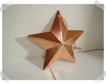 """Metal Copper Finish Star w/hanging loop/4 & Quarter"""" Wide/ Holiday/ Craft Supplies*"""